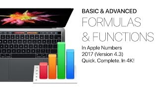 Gambar cover Formulas & Functions in Apple Numbers 2017 - Basic & Advanced Complete Class + extras, in 4K!