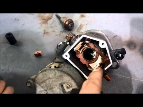 Replacing starter solenoid contacts (Nippondenso)