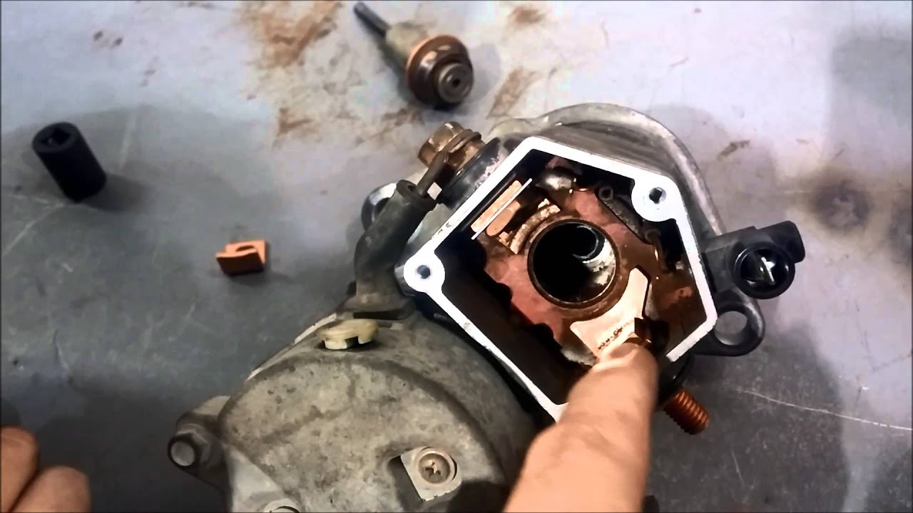 hight resolution of replacing starter solenoid contacts nippondenso