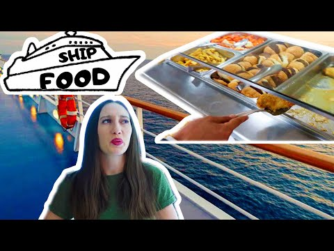 CRUISE SHIP FOOD- WHAT CAN CREW EAT ON BOARD A CRUISE SHIP - FOOD VLOG