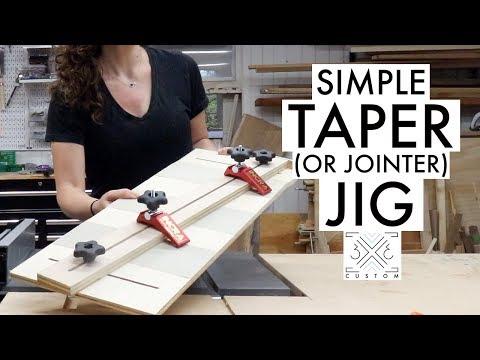 Simple Taper Jig // Jointer Jig // Woodworking // Diy Jig