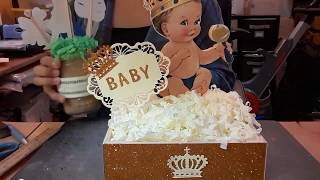 Tutorial Baby Prince Centerpiece