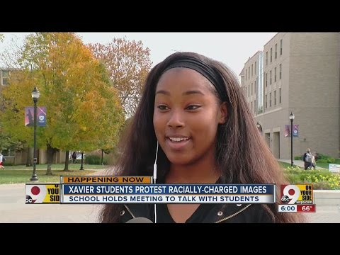 At Xavier University, dozens protest racially offensive social media posts