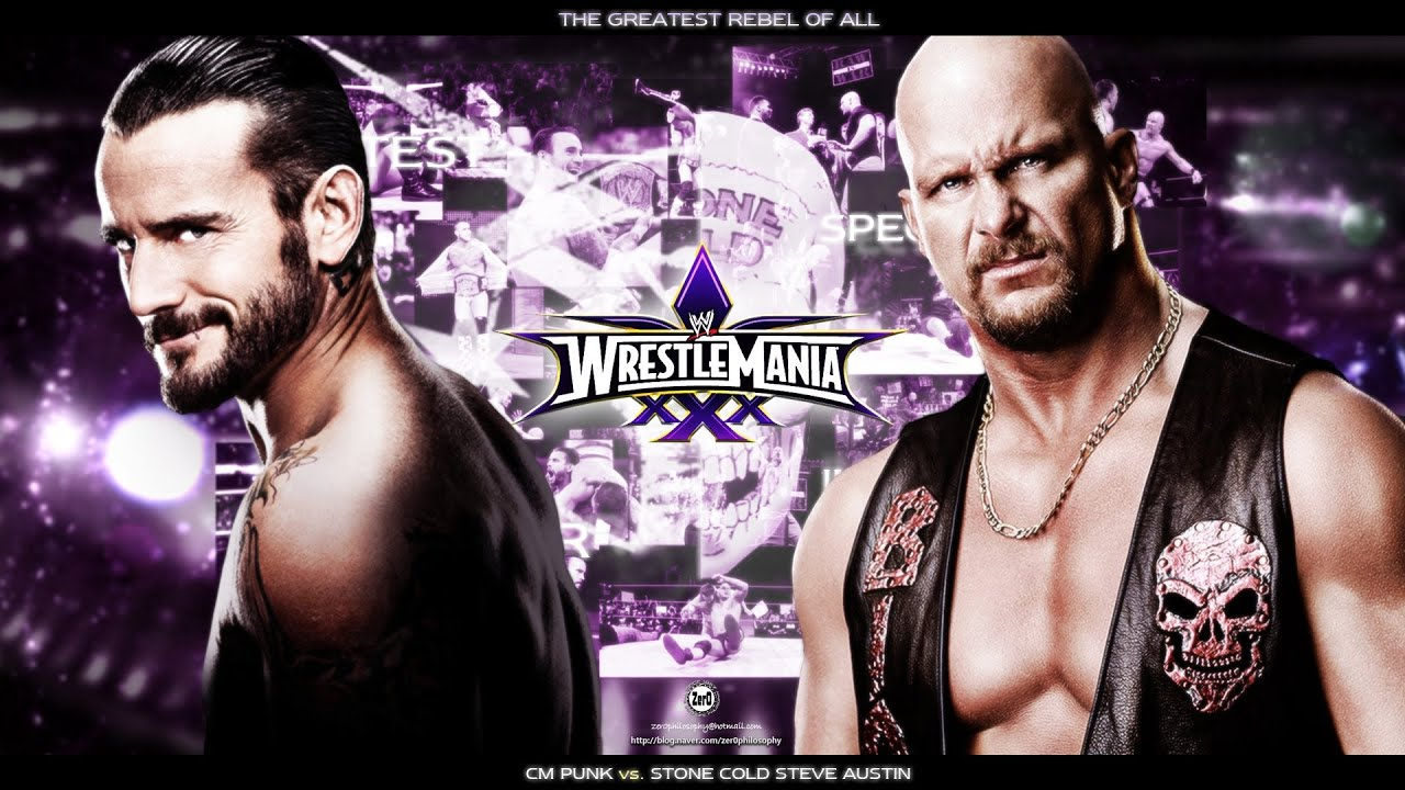 WWE 13 WrestleMania 30 Cm Punk Vs Stone Cold Steve Austin Match Gameplay