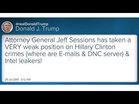 Trump blasts Attorney General Jeff Sessions on Twitter