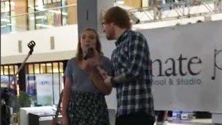 Ed Sheeran surprises a fan in mall