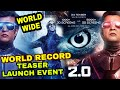 Robot 2.0 Breaks hollywood - bollywood Records, Biggest Teaser Launch by Robot 2.0, Akshay kumar
