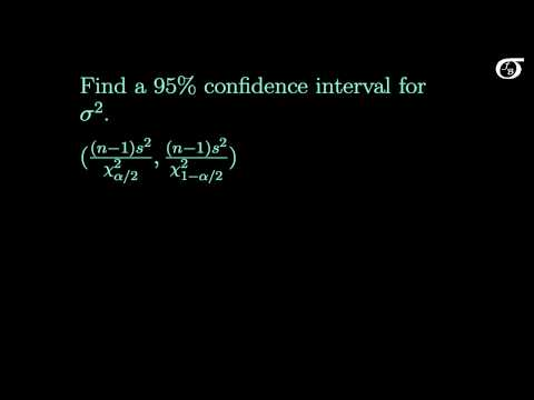 Confidence Intervals for One Population Variance