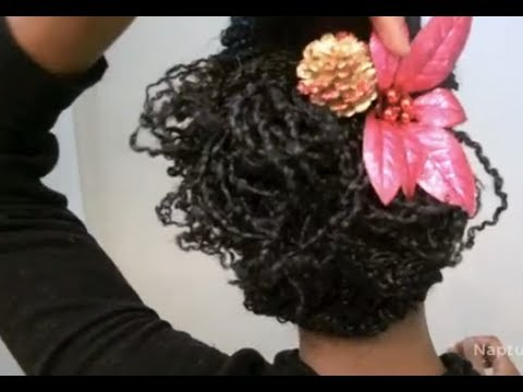 """simple-holiday-hairstyle-on-mini-twists-""""natural-hair"""""""
