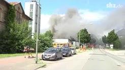 Großfeuer in Flensburger Fabrik