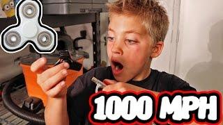 1000 MPH FIDGET SPINNER CHALLENGE