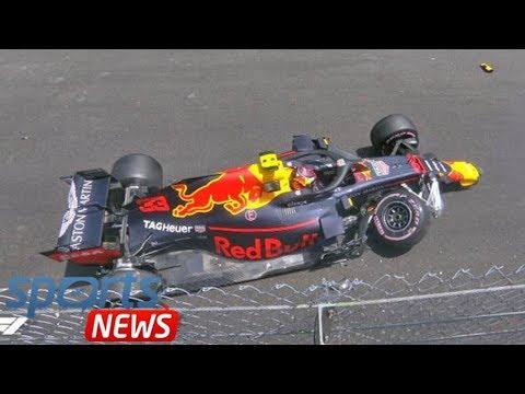 Max Verstappen CRASH: Red Bull star damages Monaco Grand Prix hopes in huge smash - watch