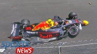 Max Verstappen CRASH: Red Bull star damages Monaco Grand Prix hopes in huge smash - watch thumbnail