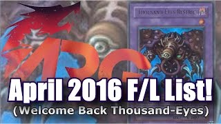 The April 2016 Forbidden and Limited List Analysis!! [ARG]