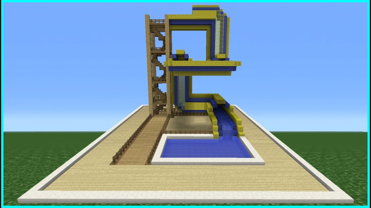 Minecraft Tutorial: How To Make A Bendy Water Slide (Mini Water ...