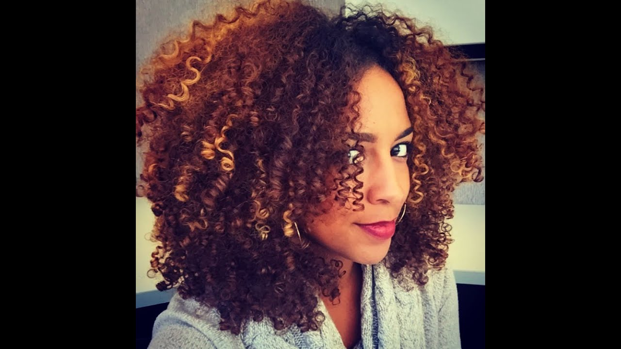 Black Women Color Natural Hair Light Ends