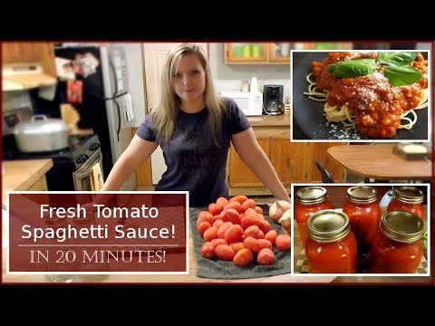 Easy Fresh Spaghetti Sauce In 20 Minutes