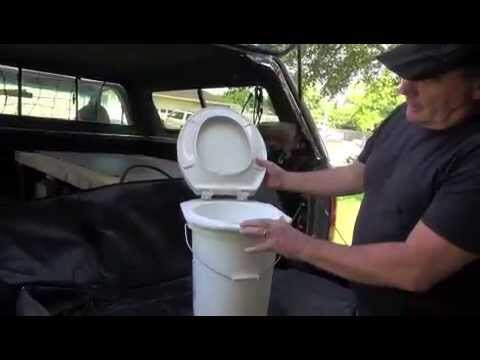 DIY Camping Toilet With Stable Connected Seat To 5 Gallon Bucket