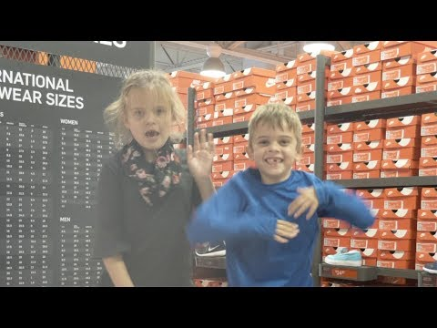 SHOE SHOPPING FOR 3 KIDS   HUNTING FOR DEALS AT NIKE OUTLET, RACK ROOM SHOES, AND FAMOUS FOOTWEAR