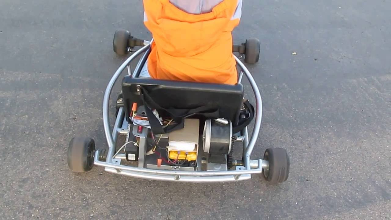 Diy Part 2 Li Ion Powered Razor 24v Go Cart With A Broken Ground Force Drifter Wiring Diagram Controller Or Thumb Throttle Youtube