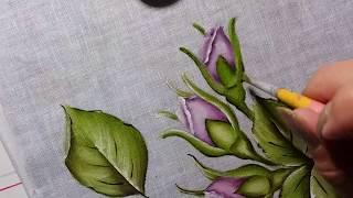 Faça Lindos Botões de Rosas – Pintura em Tecido