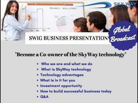 Introduction to the SkyWay Technology  Once in a lifetime opportunity