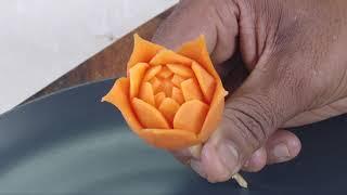 Carrot Flower And Radish Leaf- Vegetable Carving
