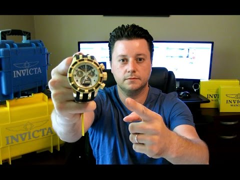 Invicta 17467 Bolt Reserve 18k Gold Plated Chronograph Watch Review