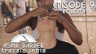 indian street barber relaxing head massage asmr no talking