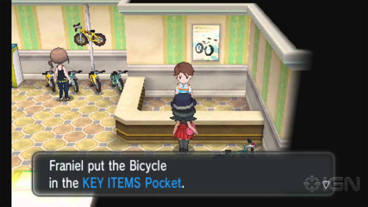 Pokemon X And Y Walkthrough Getting The Bicycle Youtube