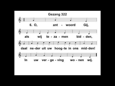 LVDM1617 februari 2017 zang gezang 322 Gij ziet en hoort