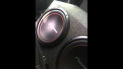 2 pioneer 12's 1600w pioneer mono amp
