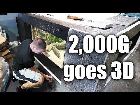 2,000G aquarium goes 3D! | The king of DIY