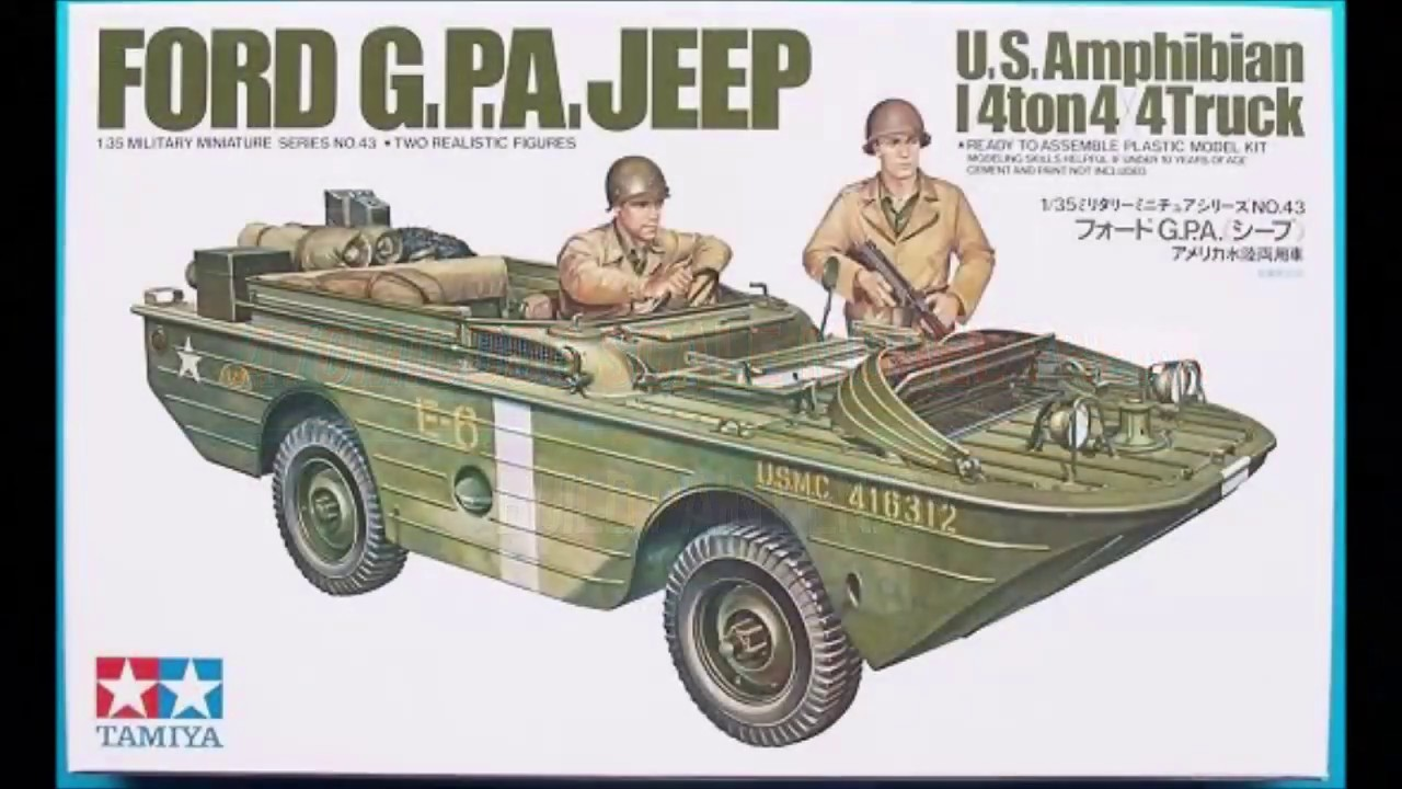 Tamiya Ford G.P.A. Jeep 1/35 Model Kit Complete