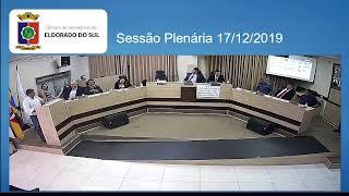 Sessão Plenária  - Eleição Mesa Diretora, 17/12/2019
