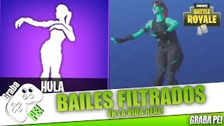 """NEW"" FORTNITE FILTERED BAILES IN REAL LIFE! (Hula, Giro, El Gancho, etc) - SEASON 5"