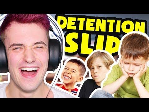 WEIRDEST REASONS KIDS WERE SENT TO DETENTION!! (DETENTION SLIPS)