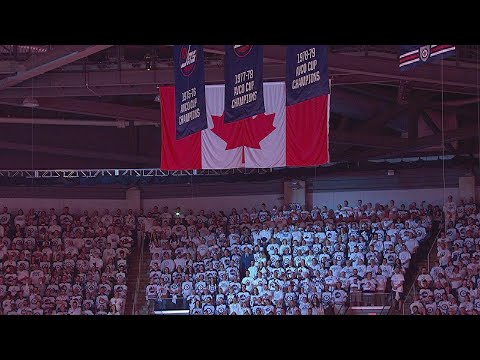 NSH@WPG, Gm6: Stacey Nattrass sings national anthems