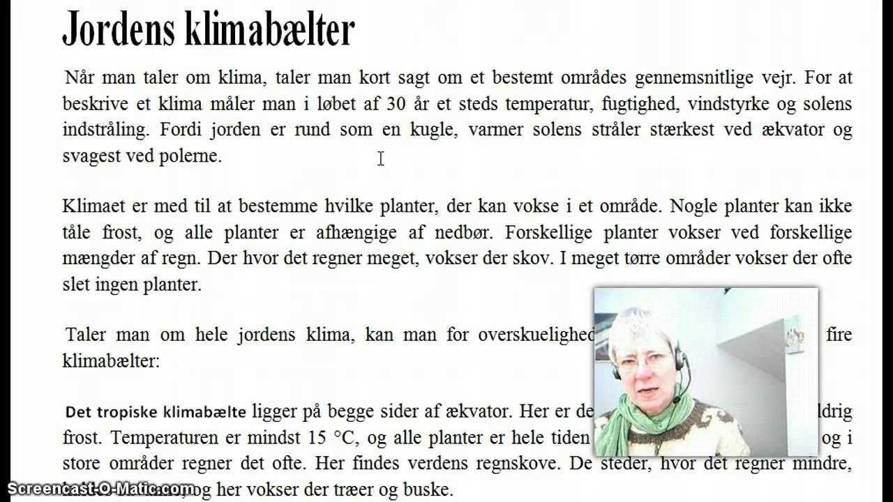 Normallæsning - Jordens klimabælter