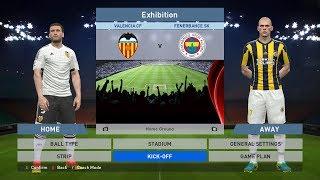 Valencia CF vs Fenerbahce SK, Estadio Mestalla, PES 2016, PC GAMEPLAY, PCGAMEPLAY, Konami