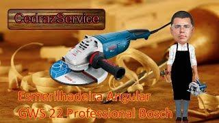 Esmerilhadeira Angular GWS 22 Professional da Bosch