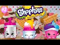Shopkins Ultra Rare Glitter Girls Cool Creamy & Cupcake Collection Food Fair Playset Party