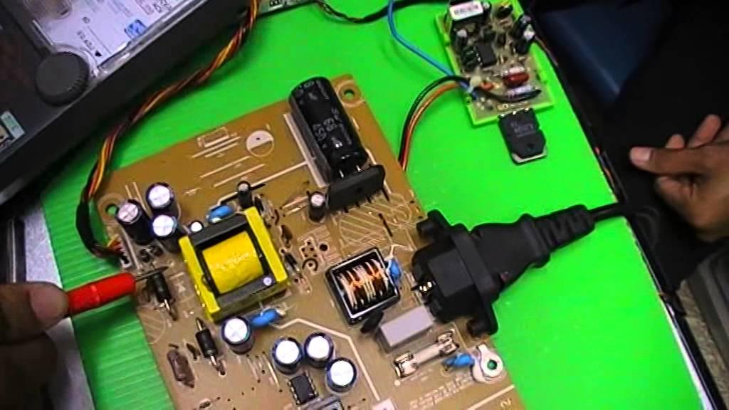 วิธีการซ่อมจอคอมพิวเตอร์ Lcd ปฏิบัติ 5 แปลงวงจรสวิตชิ่ง