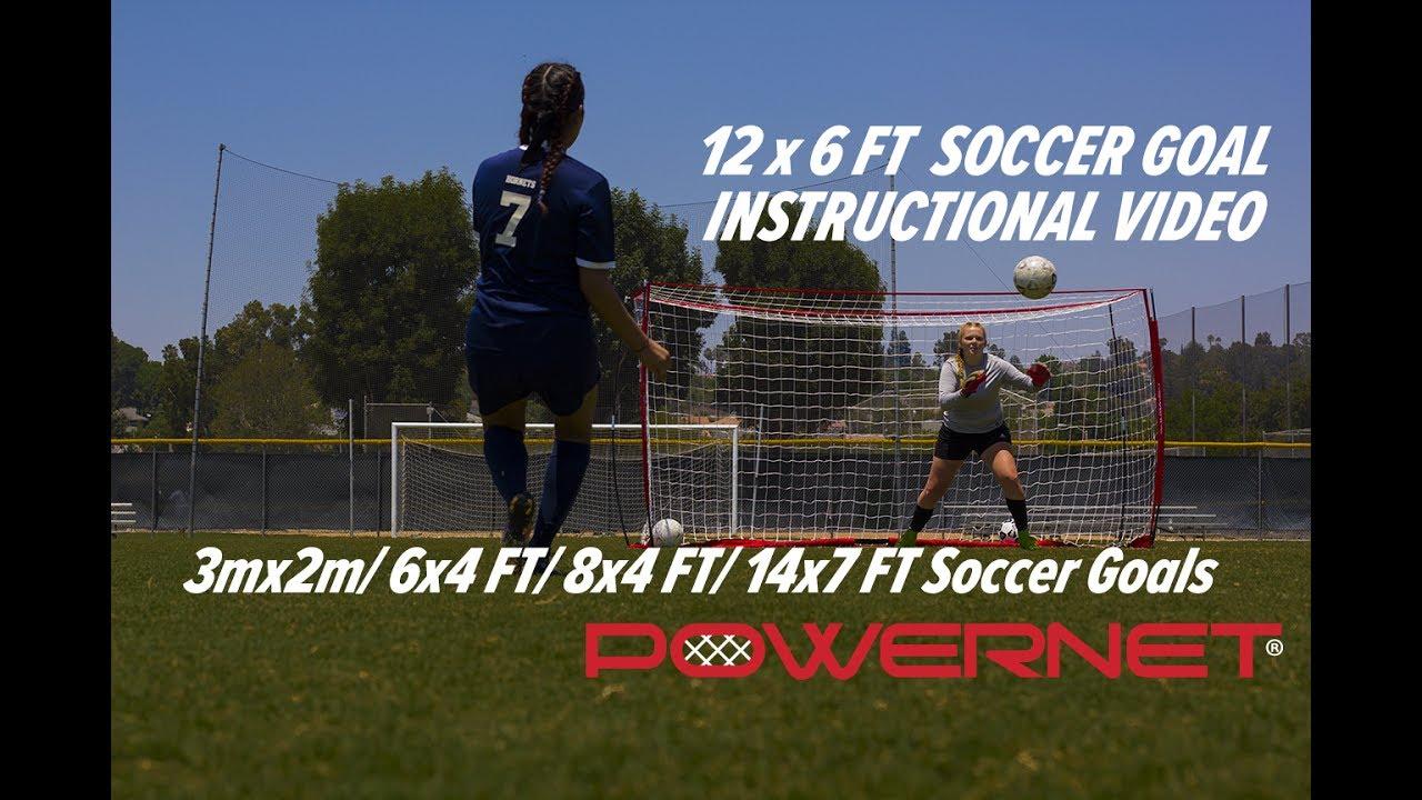 3f56efd74 12 x 6 FT Soccer Goal Instructional Video - YouTube