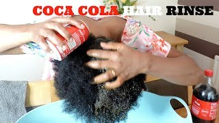 I TRIED IT || I RINSED MY HAIR WITH COCA COLA  || SEE THE RESULT