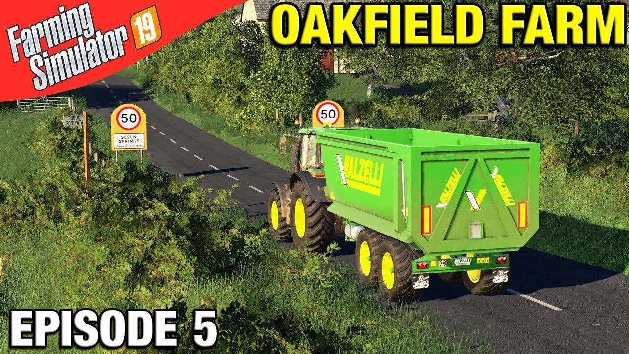 TRANSPORTING OUR CROPS Farming Simulator 19 Timelapse - Oakfield Farm FS19  Episode 5