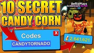 10 SECRET CANDY CORN CODES IN ROBLOX MINING SIMULATOR!