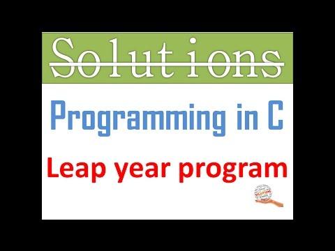 1. Programming in C:- Leap year program