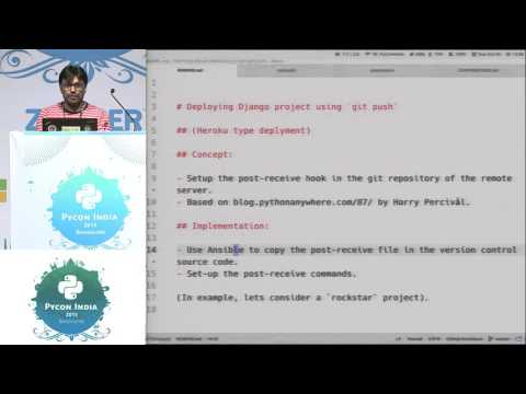 Image from Lightning Talk - Django deployment with git push - PyCon India 2015