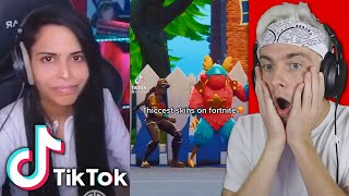reacting to fortnite tik toks and you can't laugh... (IMPOSSIBLE)